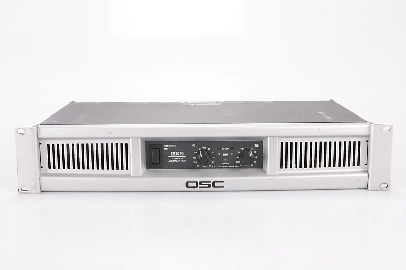 qsc gx5 700 watt stereo power amp subwoofer satellite needs reverb. Black Bedroom Furniture Sets. Home Design Ideas