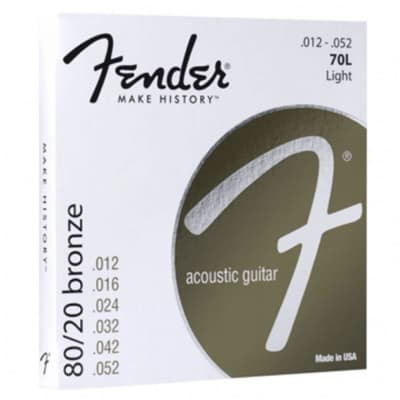 FENDER 80/20 Bronze Acoustic Guitar Strings