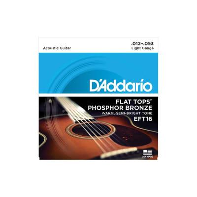 D´Addario EFT16 Flat Tops Acoustic Strings 12-53
