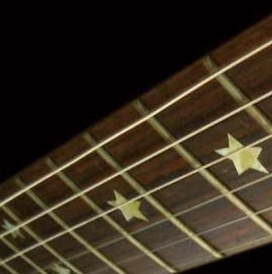 Sambora Stars Silver Sticker Inlay Fret Markers Vinyl From Guitars & Bass Custom