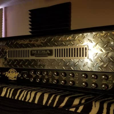 Mesa Boogie Mesa Boogie Dual Rectifier 3-Channel, 100-watt/50-watt Tube Guitar Amplifier Head   2015 Diamond Faceplate for sale