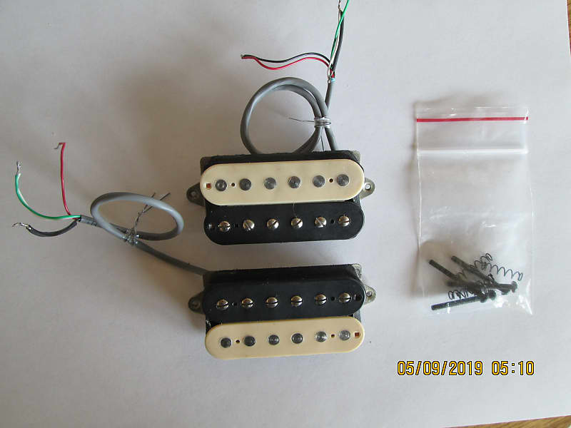 humbucker split single coil 4 wire bridge neck pickup reverb. Black Bedroom Furniture Sets. Home Design Ideas