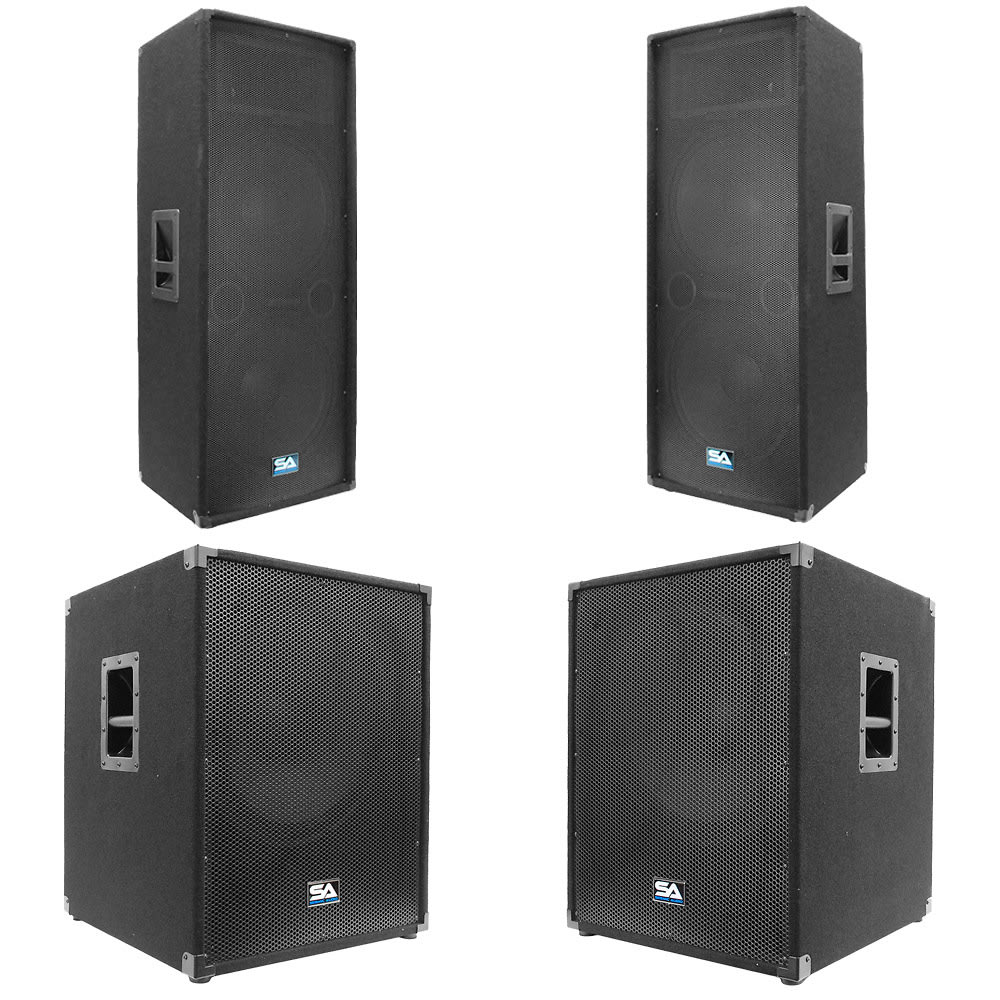 dual 15 pa speakers 18 inch subwoofer cabs reverb. Black Bedroom Furniture Sets. Home Design Ideas