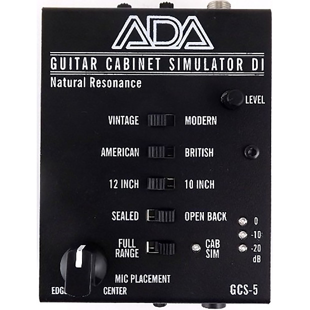 Ada Gcs 5 Guitar Cabinet Simulator Di Box W Headphone Output Reverb