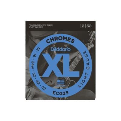D´Addario Chromes ECG25 Flatwound Strings 12-52