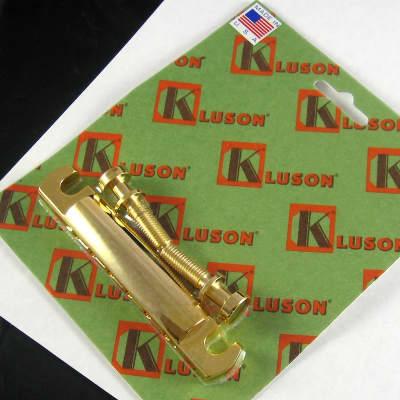 Kluson Lightweight Aluminum Tailpiece Gold Steel Studs KSTOPAL-G for sale
