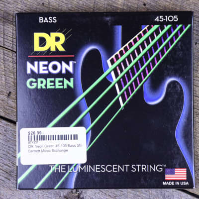 DR Neon Green 45-105 Bass Strings