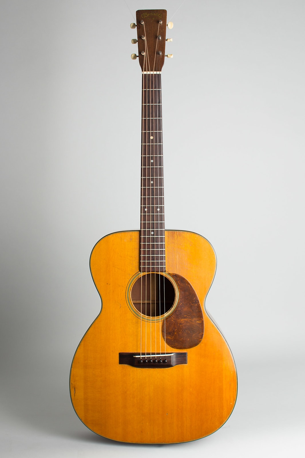 C. F. Martin  000-18 Flat Top Acoustic Guitar (1945), ser. #90306, original black hard shell case.