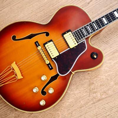 1970s Gibson Byrdland Vintage Archtop Electric Guitar Ice Tea Sunburst w/ Pat Sticker T Tops, Case for sale