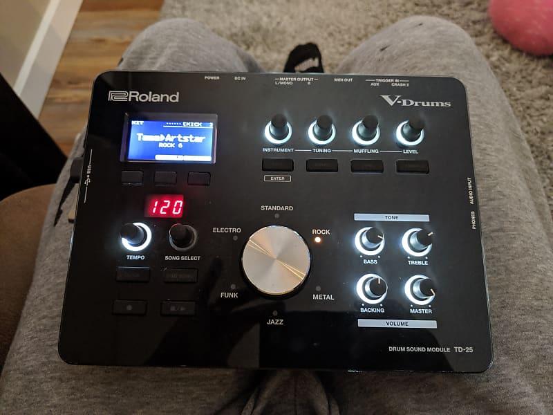 Roland TD25 Module/ Expanded W/ Drum-tec LA Studio Kits