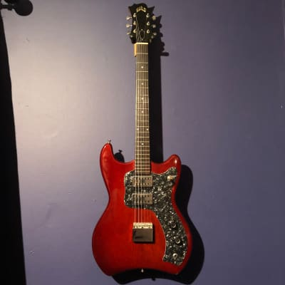 Vintage Hoboken Guild S-50 Jet Star 1964 Cherry Red Vintage 60's Electronic Mods = Gibson SG Killer