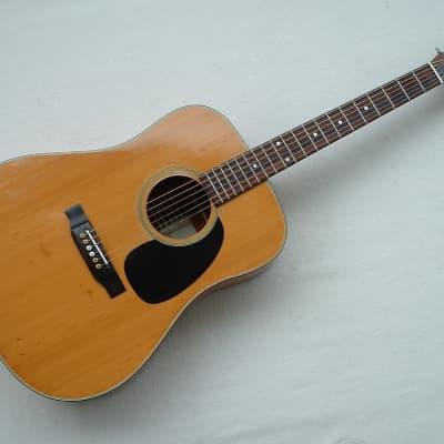 Kasuga D 200 Vintage Japan 1975 Western Guitar Natur Acoustic Gitarre 6 String Kytara for sale