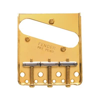 Fender 3-Saddle American Vintage Telecaster Bridge Assembly Gold