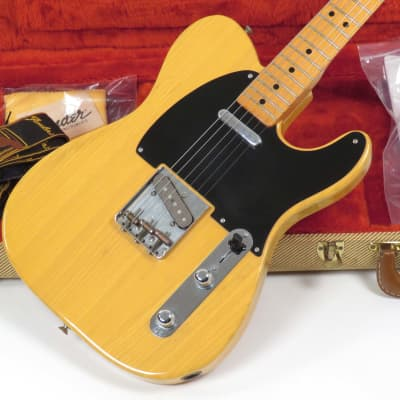 Fender Telecaster 52 Reissue Fullerton 1982 Blonde Early Example with Lots of Case Candy for sale