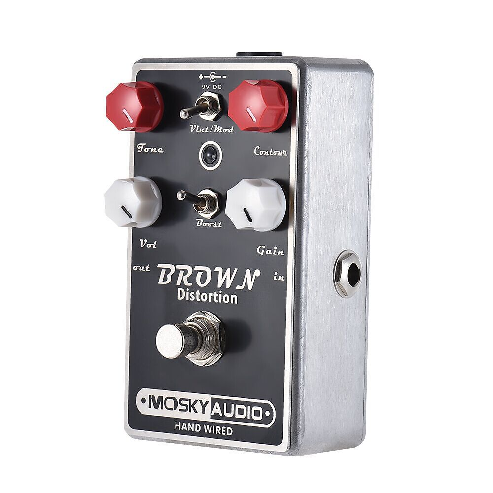 Mosky Audio BROWN Distortion Dual Toggle with Boost Option Hand-Wired New and Nice! 2019