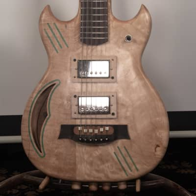 Portland Guitar Luthier Maple Cat's Eye Hollow Body Electric Guitar for sale