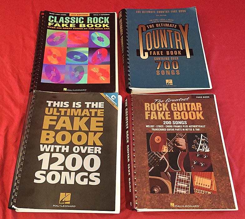 Hal Leonard Rock Country Fake Books 4 Piece