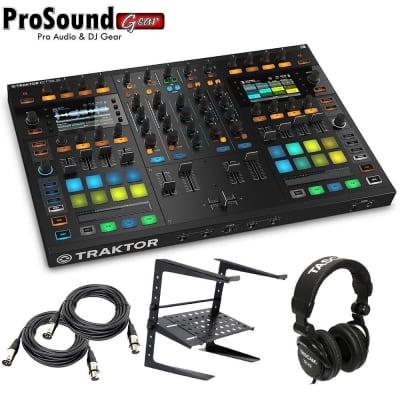 Native Instruments Traktor Kontrol S8 Free laptop Stand, Tascam DJ Headphone - (2) XLR Cables 15Ft e