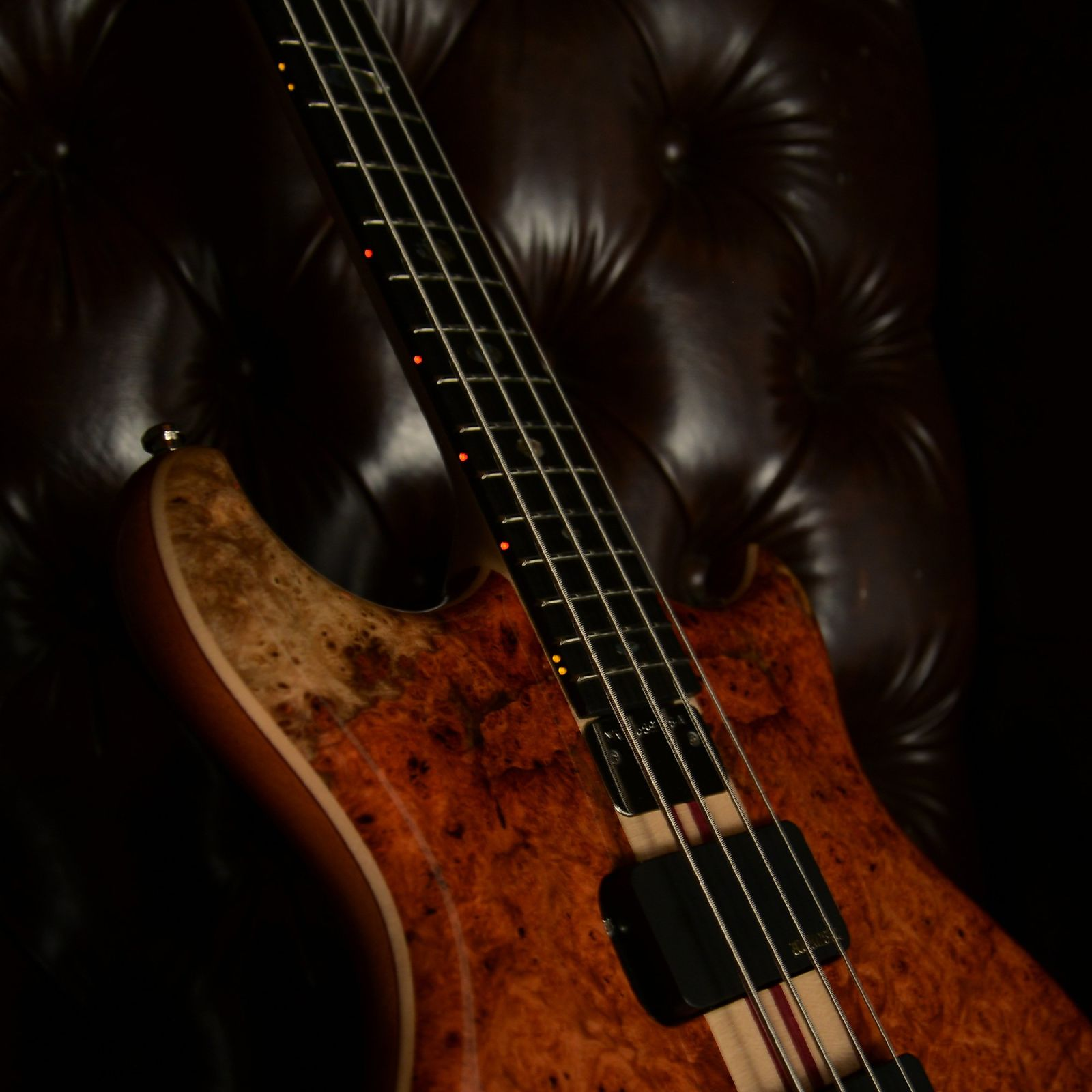 Alembic Mark King Deluxe 4 Amboyna Burl Top/Back (Serial #11133)
