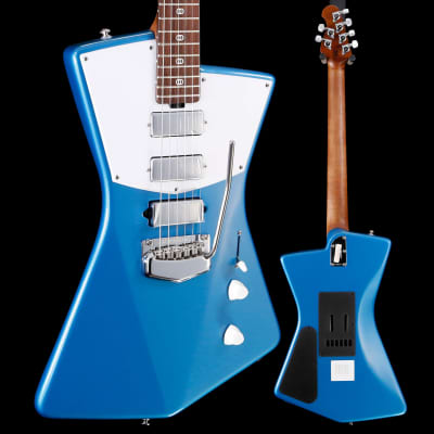 Ernie Ball Music Man St. Vincent Blue Roasted Maple Rosewood White 6lbs 13.3oz for sale