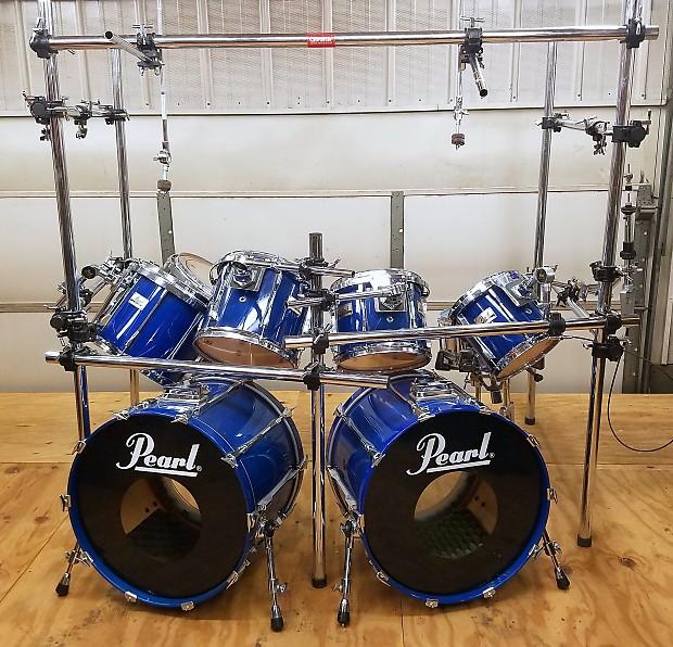Pearl BLX All Birch 7 Piece Drum Set W Gibraltar Power Rack