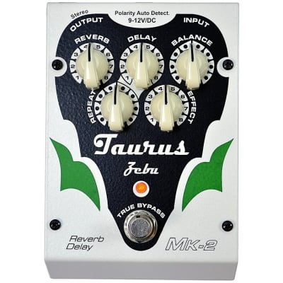 Taurus Amplification Zebu Reverb-Delay MK-2 White Line Clearance for sale