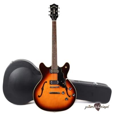 Guild Starfire IV ST Maple Semi-Hollow Electric Guitar w/ Case - Antique Sunburst