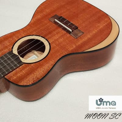 Uma MOON-SC Solid Africa Mahogany wood concert ukulele  Natural Gloss for sale