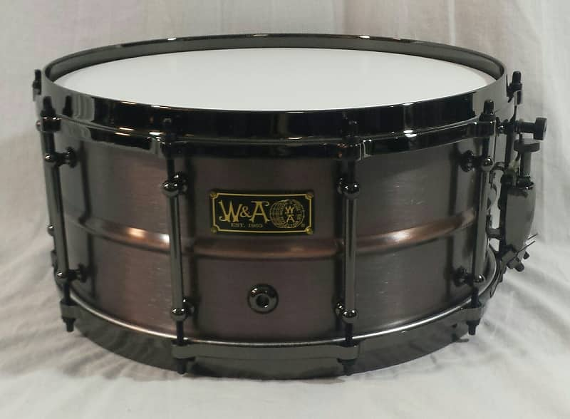 walberg and auge 6 5 x 14 brass shell snare drum brushed reverb. Black Bedroom Furniture Sets. Home Design Ideas