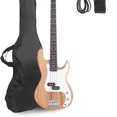 Electric Bass Guitar Full Size 4 String Rosewood Basswood Fire Style Exquisite Burning Bass for sale