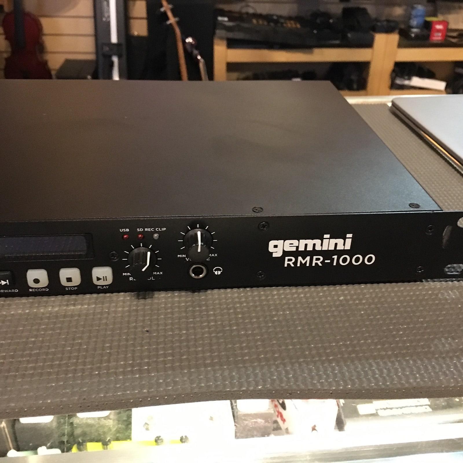 Gemini RMR-1000 Professional USB/SD Digital Player & Recorder Rack Mount Unit