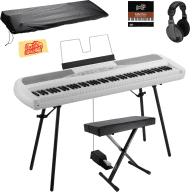 Korg SP-280 Digital Piano - White w/ Bench, Stand