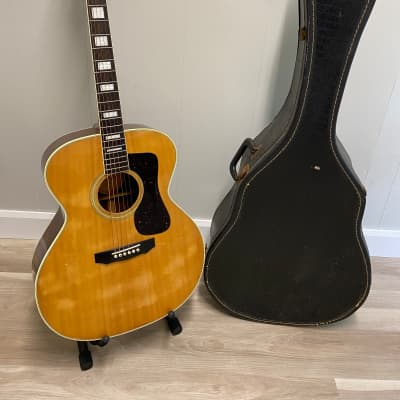 Rare 1984 Hohner HG-720 Natural Acoustic Guitar With Case