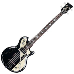 Italia Mondial Electric Bass Guitar - Black for sale