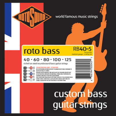 Rotosound RB40-5 RotoBass Nickel on Steel Bass Guitar 5-String 40-125