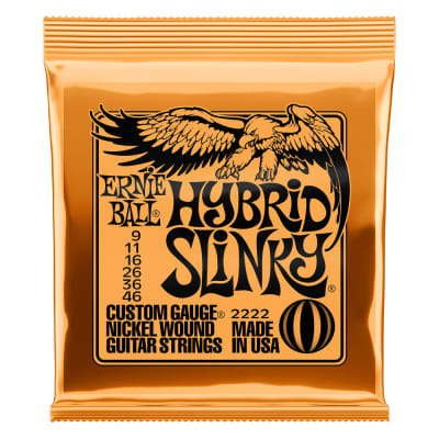 Ernie Ball 2222 Hybrid Slinky Nickel Wound Electric Guitar Strings - 9-46 Gauge