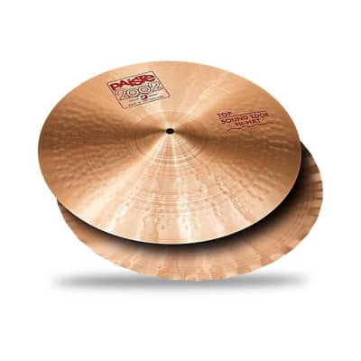 "Paiste 15"" 2002 Sound Edge Hi-Hat (Pair) Cymbals Traditional w/ FREE Paiste T-Shirt"