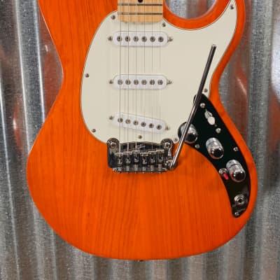 G&L Guitars USA Fullerton Deluxe Skyhawk Clear Orange Guitar & Case #5115 for sale