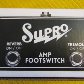 Supro 2 Button Footswitch  *Free Shipping*