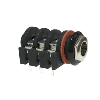 """1/4"""" Stereo Input Jack with Metal Ferrule PC Mount Shorting Style"""
