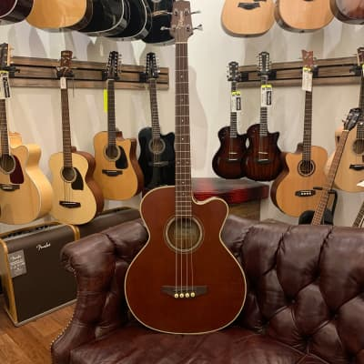 Takamine PB5 ANS Pro Series Jumbo Cutaway Acoustic/Electric Bass Gloss Antique Natural Stain