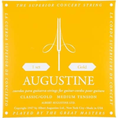 Augustine Classic Gold Guitar Strings - Medium for sale