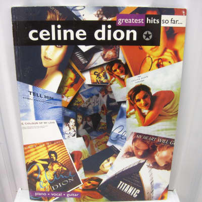 Celine Dion Greatest Hits So Far Sheet Music Song Book Songbook Piano Vocal Guitar