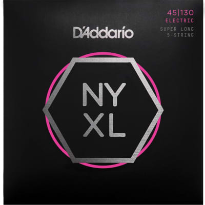 D'Addario NYXL 5-String Bass Guitar Strings | Regular Light