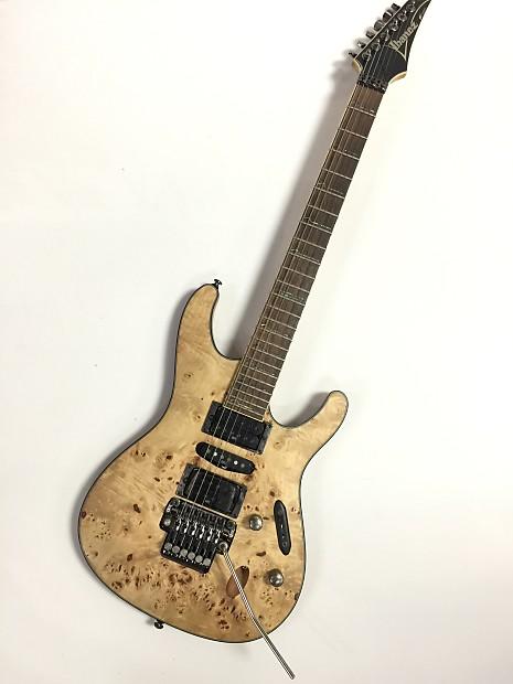 ibanez s770 electric guitar zr tremelo mahogany burl reverb. Black Bedroom Furniture Sets. Home Design Ideas