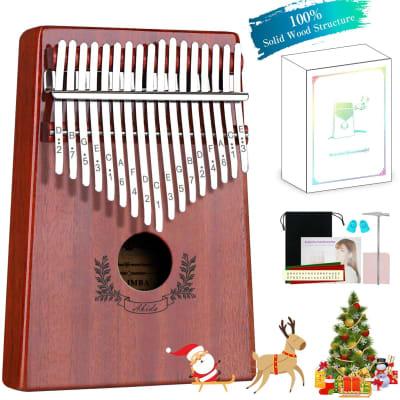 17 Keys Kalimba Thumb Piano Mbira with Accessories Full Kit Bundle