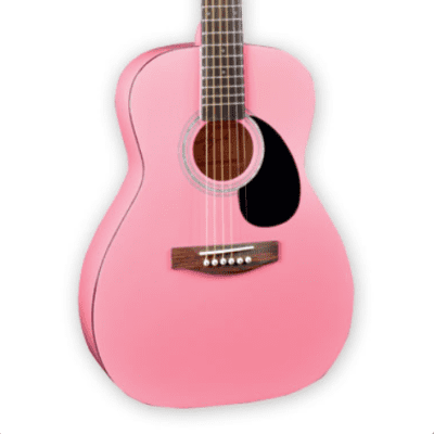Jay Turser JJ43-PK Basswood Body 3/4 Size Mahogany Neck 6-String Acoustic Guitar - Pink