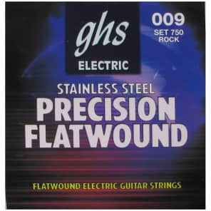 GHS 750 Precision Flats Flatwound Electric Guitar Strings - Ultra Light (9-42)