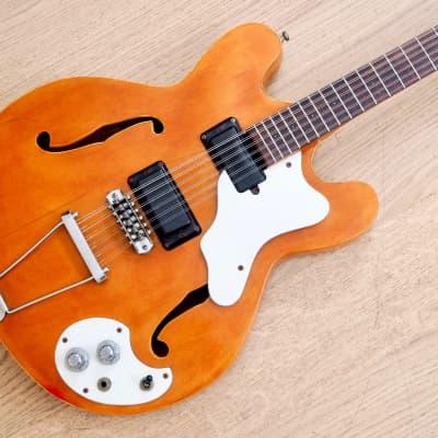1967 Mosrite Celebrity XII Vintage Electric 12 String Guitar Hollowbody Natural for sale