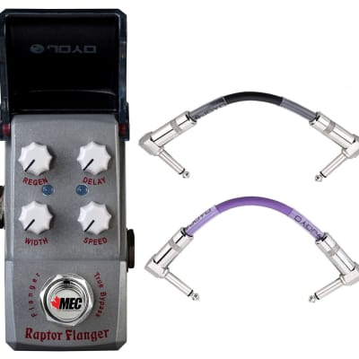 Joyo JF-327 Raptor Flanger Ironman Mini Effect Pedal +2 Patch Cables Ships Free for sale